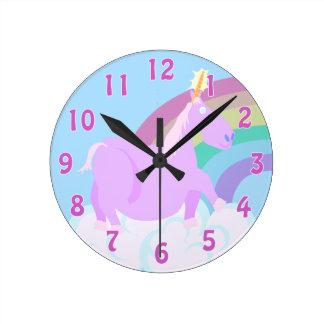 Chubby Unicorns Need Love Too Round Clock