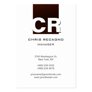 Chubby Vertical Browny Red White Business Card