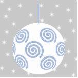 Chuchería blanca y azul del navidad. En gris estre Esculturas Fotograficas