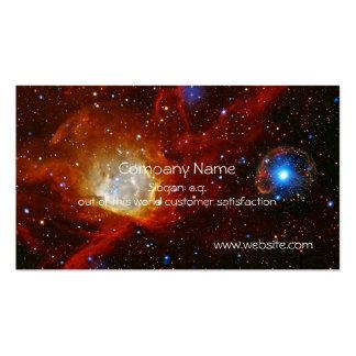 Chuchería celestial - nebulosa N90 y pulsar Tarjetas De Visita