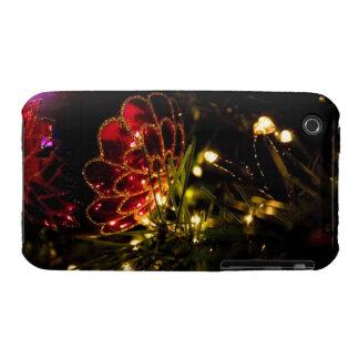 Chuchería del navidad con las luces de hadas iPhone 3 fundas