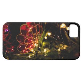 Chuchería del navidad con las luces de hadas iPhone 5 funda