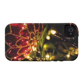 Chuchería del navidad con las luces de hadas Case-Mate iPhone 4 funda