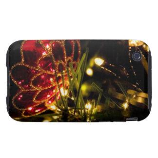 Chuchería del navidad con las luces de hadas tough iPhone 3 cobertura