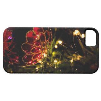 Chuchería del navidad con las luces de hadas iPhone 5 cárcasa