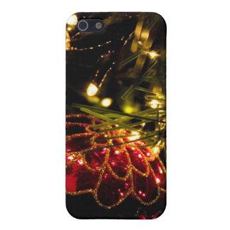 Chuchería del navidad con las luces de hadas iPhone 5 cárcasas