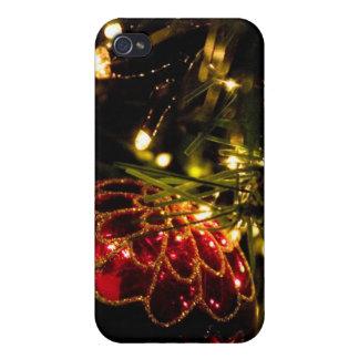 Chuchería del navidad con las luces de hadas iPhone 4/4S fundas