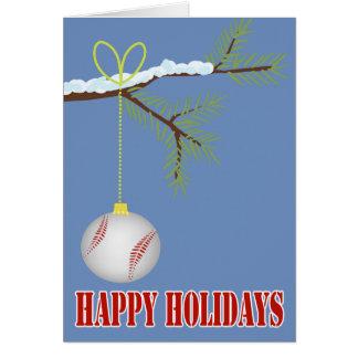 Chuchería del navidad del béisbol tarjeta de felicitación