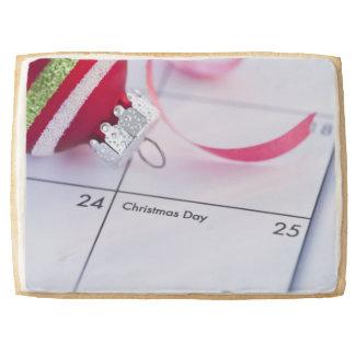 Chuchería del navidad en calendario