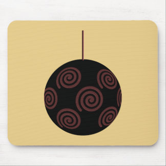 Chuchería negra y roja del navidad en color oro alfombrillas de ratones