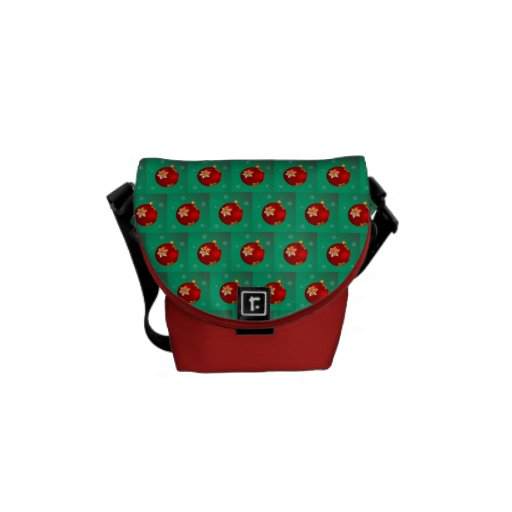 Chuchería roja del navidad bolsas de mensajeria