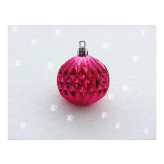 Chuchería rosada del navidad tarjeta publicitaria
