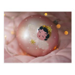 Chuchería rosada pasada de moda del navidad tarjetas postales