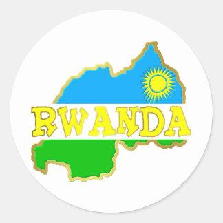 Chucherías 2 de Rwanda Pegatina Redonda