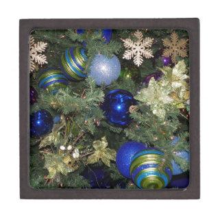 Chucherías bonitas del árbol de navidad caja de recuerdo de calidad
