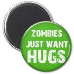 chucherías de Halloween de los zombis Imanes De Nevera