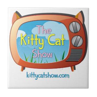 ¡Chucherías de la demostración del gato del gatito Azulejo Cuadrado Pequeño