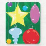 Chucherías del árbol de navidad alfombrilla de ratón
