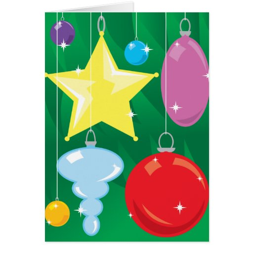 Chucherías del árbol de navidad tarjetas