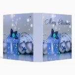 Chucherías del azul de las Felices Navidad