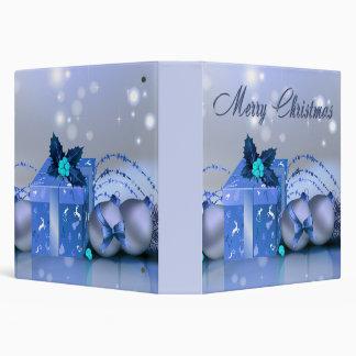 """Chucherías del azul de las Felices Navidad Carpeta 1 1/2"""""""
