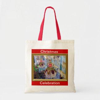 Chucherías del maniquí del navidad bolsas de mano