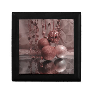 Chucherías del navidad, elegantes caja de regalo cuadrada pequeña