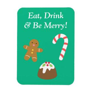 Chucherías del navidad, hombre de pan de jengibre, imanes de vinilo