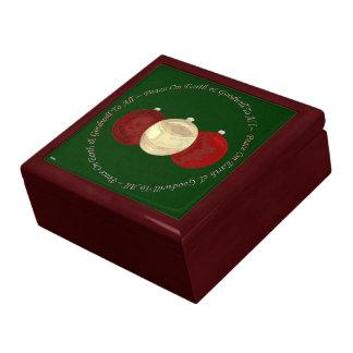 Chucherías del navidad (oro/rojo) caja de joyas