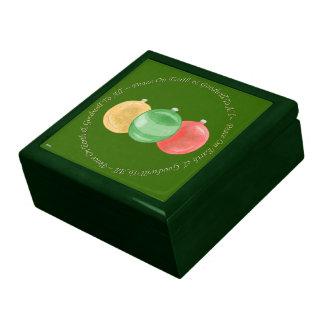 Chucherías del navidad (oro/verde/rojo) caja de recuerdo