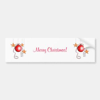 Chucherías, estrellas y malla del navidad etiqueta de parachoque