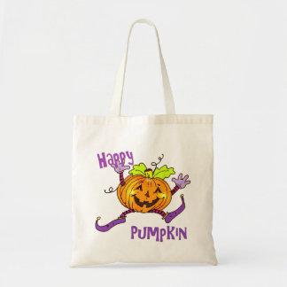 Chucherías felices de Halloween de la calabaza Bolsa Tela Barata