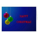 Chucherías festivas del navidad felicitación