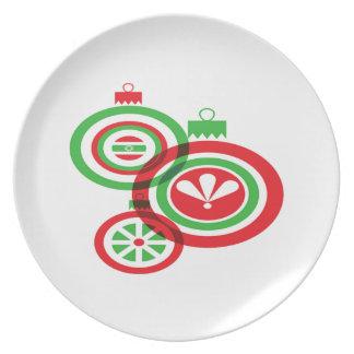 Chucherías festivas del navidad plato para fiesta
