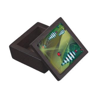 Chucherías rayadas del navidad cajas de joyas de calidad