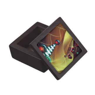 Chucherías rayadas y amor del navidad caja de joyas de calidad