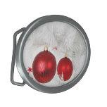 Chucherías rojas festivas hebillas de cinturon