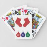 Chucherías y medias del navidad barajas de cartas