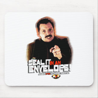 """Chuck Hansen: """"Seal it in an Envelope!"""" Mouse Pad"""