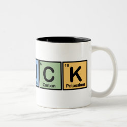 Two-Tone Mug with Chuck made of Elements design
