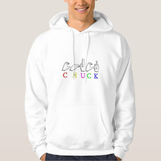 CHUCK  NAME SIGN ASL FINGERSPELLED HOODIE