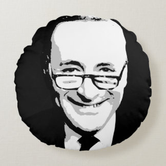 Chuck Schumer Face Round Pillow