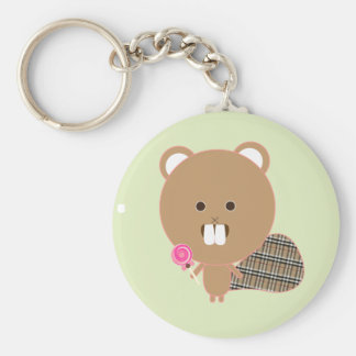 Chuck the Beaver Key Chain