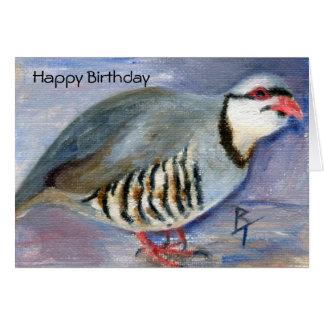 Chuck the Chukar Birthday Card