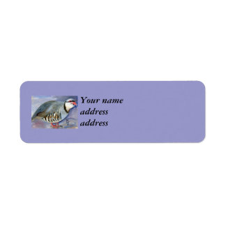 Chuck the Chukar  Custom Return Address Label