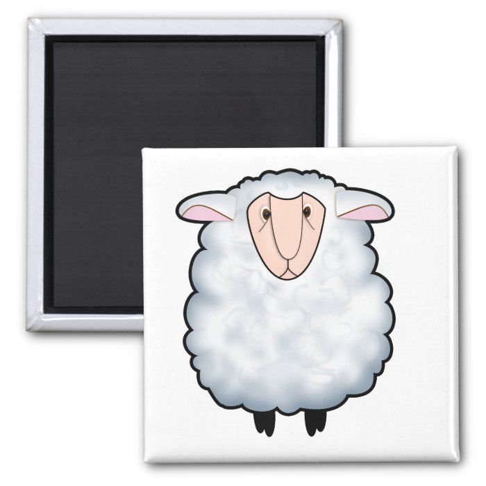 Chuck the Sheep 2 Inch Square Magnet