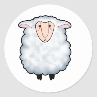 Chuck the Sheep Round Stickers