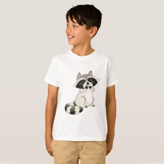 Chuckling Adorable Raccoon T-Shirt