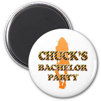 Chuck's Bachelor Party 2 Inch Round Magnet