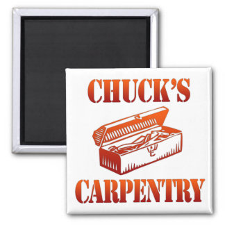 Chuck's Carpentry 2 Inch Square Magnet